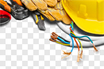 Сlipart Electrician Electricity Work Tool Hardhat Power Cable photo cut out BillionPhotos