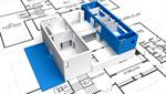 Сlipart Blueprint Green Built Structure Construction Architecture 3d  BillionPhotos