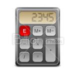 Сlipart calculator calculating mathematics calculating machine book-keeping vector icon cut out BillionPhotos