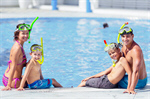 Сlipart Family Asian Ethnicity Swimming Pool Vacations Cheerful photo  BillionPhotos