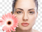 Сlipart Beauty Women Human Face Beautiful Single Flower photo cut out BillionPhotos