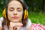 Сlipart Music Headphones Listening Women Relaxation photo  BillionPhotos