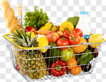 Сlipart Groceries Basket Shopping Basket Vegetable Food photo cut out BillionPhotos