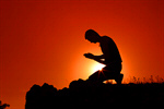 Сlipart Praying Men Kneeling Christianity Spirituality photo  BillionPhotos