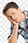 Сlipart sleep man student young tired photo cut out BillionPhotos
