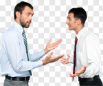 Сlipart Arguing Conflict Business Anger Displeased photo cut out BillionPhotos