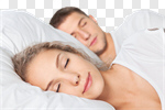 Сlipart Sleeping Couple Bed Women Men photo cut out BillionPhotos