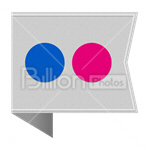 Сlipart Flickr Flickr icon Sharing Social Media social button vector icon cut out BillionPhotos
