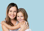 Сlipart mother daughter hug bio organic   BillionPhotos