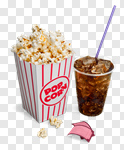 Сlipart Popcorn Soda Movie Drink Movie Ticket photo cut out BillionPhotos