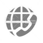 Сlipart call call worldwide international international call communication vector icon cut out BillionPhotos