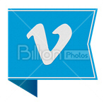 Сlipart vimeo Sharing Social Media social button Bookmark vector icon cut out BillionPhotos