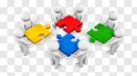 Сlipart Teamwork Cooperation Team Partnership Community 3d cut out BillionPhotos