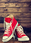 Сlipart Red shoe on the wooding background Shoe Sports Shoe Canvas Shoe Converse   BillionPhotos