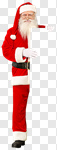 Сlipart Santa Claus Christmas Sign male9 Holding photo cut out BillionPhotos