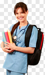Сlipart Nurse Student Education College Student Doctor photo cut out BillionPhotos