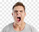 Сlipart anger rage shout portrait pain photo cut out BillionPhotos