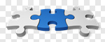 Сlipart Puzzle Three Objects Part Of Strategy Jigsaw Piece 3d cut out BillionPhotos
