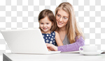 Сlipart busy mother home working work photo cut out BillionPhotos
