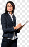 Сlipart Clipboard Women Business Businesswoman Professional Occupation photo cut out BillionPhotos
