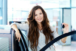 Сlipart car buying key dealership girl photo  BillionPhotos