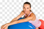 Сlipart Pilates Fitness Ball Exercising Women Ball photo cut out BillionPhotos