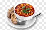 Сlipart Soup Food Minestrone Bowl Isolated photo cut out BillionPhotos