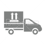 Сlipart Delivery Van Delivery Box Cardboard Box Truck vector icon cut out BillionPhotos