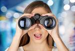Сlipart Binoculars Women Business Searching The Way Forward   BillionPhotos