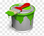 Сlipart Paint Paint Can Paintbrush Brushing Painting 3d cut out BillionPhotos