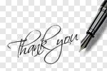 Сlipart Thank You Fountain Pen Pen Gratitude Letter photo cut out BillionPhotos