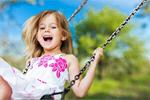 Сlipart Child Playing Playground Little Girls Swing   BillionPhotos