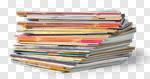 Сlipart magazine stack pile press print photo cut out BillionPhotos