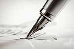 Сlipart Signature with a fountain pen Pen Writing Letter Signature photo  BillionPhotos
