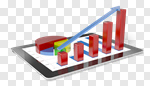 Сlipart Finance Business Data Graph Marketing 3d cut out BillionPhotos