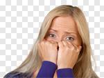 Сlipart Fear Anxiety Terrified Women Worried photo cut out BillionPhotos