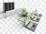 Сlipart Computer Network Communication Network Server Computer Technology 3d cut out BillionPhotos