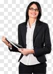 Сlipart Businesswoman Women Business Glasses Smiling photo cut out BillionPhotos