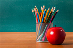 Сlipart teacher desk apple school pen photo  BillionPhotos