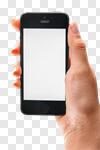 Сlipart Iphone Mobile Phone Telephone Human Hand Smart Phone photo cut out BillionPhotos