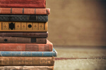 Сlipart stacked old books stack pile shelf dark   BillionPhotos
