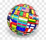 Сlipart Globe Global World Map Flag Earth 3d cut out BillionPhotos