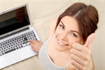 Сlipart Women Computer Laptop Cheerful Happiness photo  BillionPhotos