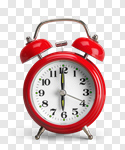 Сlipart Alarm Clock Clock Red Watch Isolated photo cut out BillionPhotos