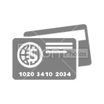 Сlipart credit card card bank card Visa Plastic Card vector icon cut out BillionPhotos