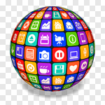 Сlipart Globe Sphere Planet apps Application Software 3d cut out BillionPhotos