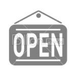 Сlipart Open Sign Opening Open Store Store Opening vector icon cut out BillionPhotos