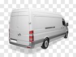 Сlipart Van White Truck Working Business 3d cut out BillionPhotos