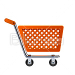 Сlipart Shopping Cart Shopping Retail Push Cart Industrial Objects/Equipment vector icon cut out BillionPhotos