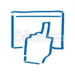 Сlipart Indicate Show Finger Index Finger Touch Screen vector icon cut out BillionPhotos